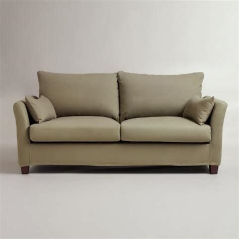 sage luxe sofa slipcover world market