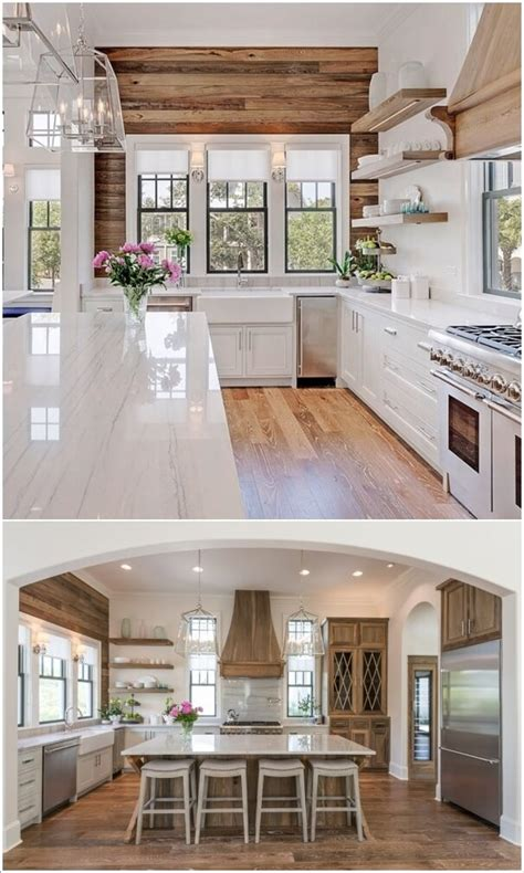 decorate  kitchen  charming farmhouse style