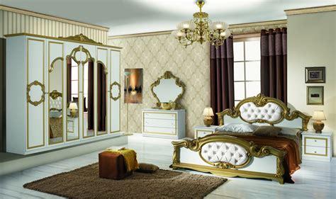 Italien Barock Schlafzimmer Weiß Gold Bartek 4-teilig In Klassischem Stil