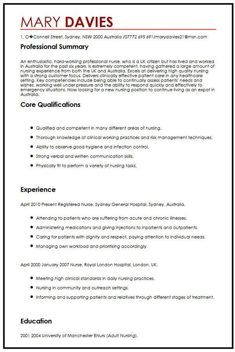 Great Cv by Cv Exle For Expats Myperfectcv