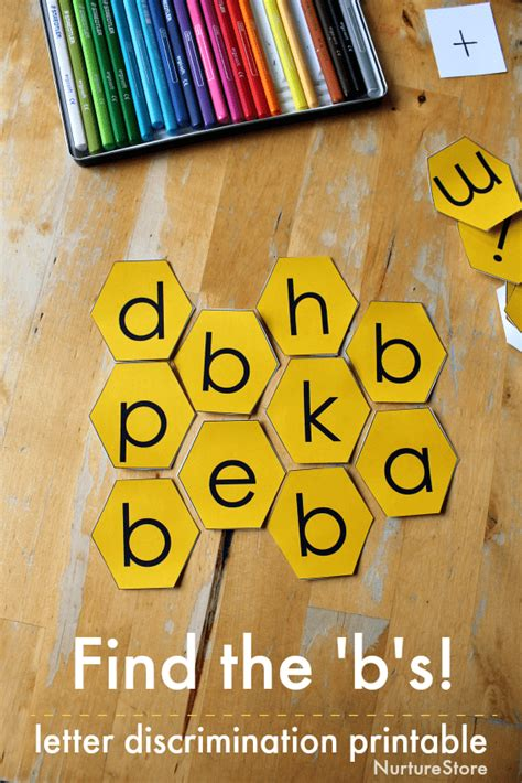 printable bee alphabet honeycomb letters nurturestore