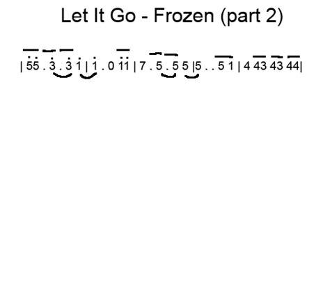 not angka lagu let it go frozen my forever let it go frozen violin sheet