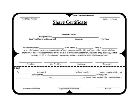 template share certificate rbscqiv share certificate
