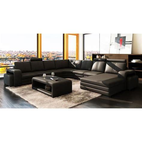 grand canape d angle 10 places canapé d 39 angle panoramique cuir noir 10 places hav achat