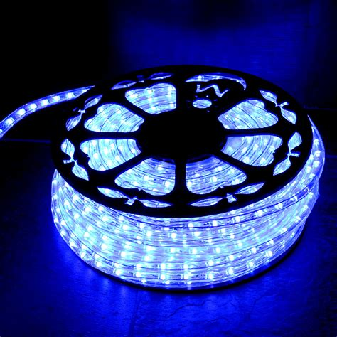 blue rope lights dimmable blue led rope light indoor outdoor aqlighting