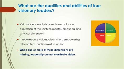visionary leadership  influence   context