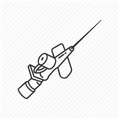 Cannula Medical Drawing Needle Icon Equipment Intravenous