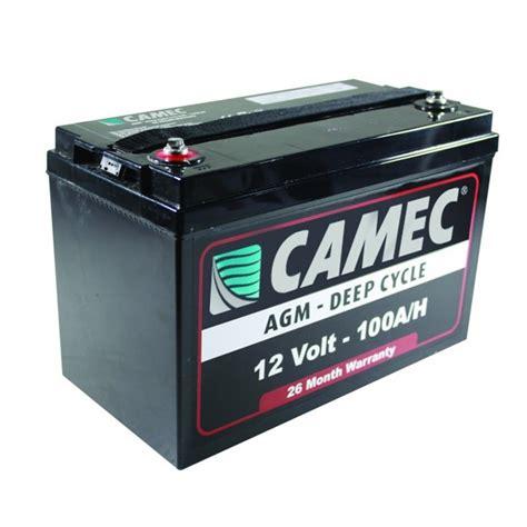 agm batterie 100ah caravansplus camec cycle 100ah agm sealed lead acid battery