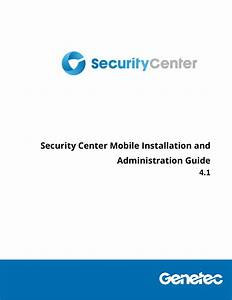 Security Center Mobile Installation And Administration