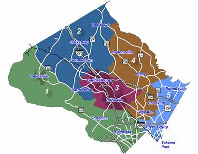 County Map Districts Council Montgomery District Election