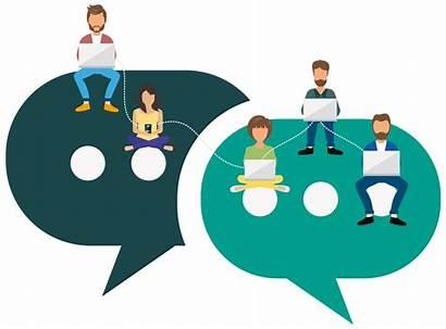 Collaboration Clipart Together Communication Team Transparent Platform
