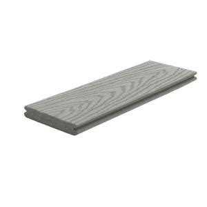 trex select decking home depot trex select 1 in x 5 1 2 in x 16 ft pebble grey grooved