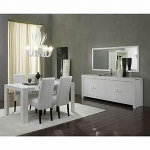 Salle A Manger Laque Blanc : salle manger compl te blanc laqu design tamara 2 ~ Teatrodelosmanantiales.com Idées de Décoration