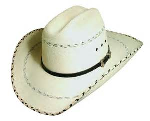 kenny chesney signature cowboy hat by blue chair