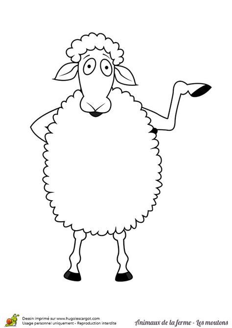 bureau qui se ferme a colorier un mouton qui se tient debout coloriages