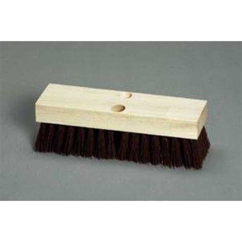 Deck Scrub Brush by 12 Inch Wood Block Deck Scrub Brush