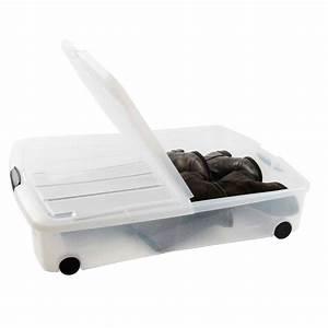Rangement Sous Le Lit : bo te plastique rangement sous le lit ~ Farleysfitness.com Idées de Décoration