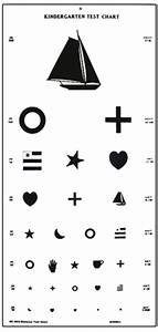 Distance Acuity Charts Large Kindergarten Vision Test Chart