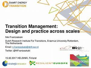 Niki Frantzeskaki - Transition Management - Design and ...