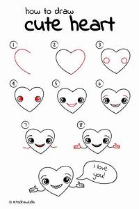 Cute Love Drawings Step By Step Coloring Pages : Easy ...