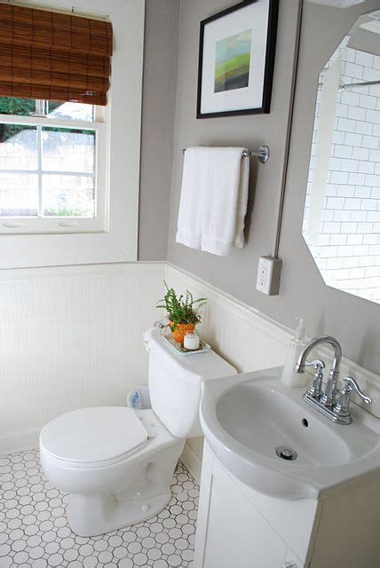 Bathroom Paint Colors With White Tile by This Gray Bathroom Paint On The White Subway Tile