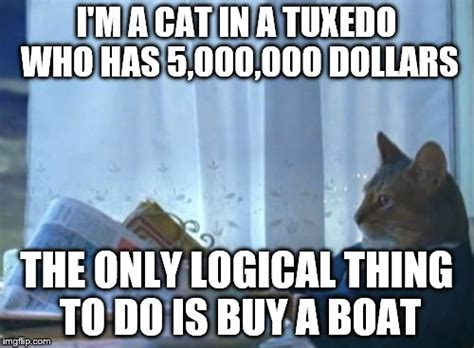 Cat Buy A Boat Meme - i should buy a boat cat meme imgflip