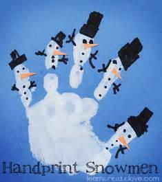 handprint snowmen craft