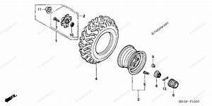Honda Atv 2006 Oem Parts Diagram For Rear Wheel