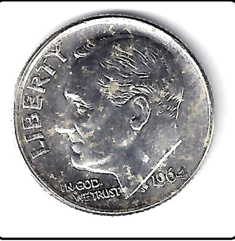 1964 silver dime 1964 silver roosevelt dime us mint uncirculated grade ebay