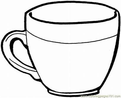 Coloring Teacup Pages Kitchenware Coloringpages101