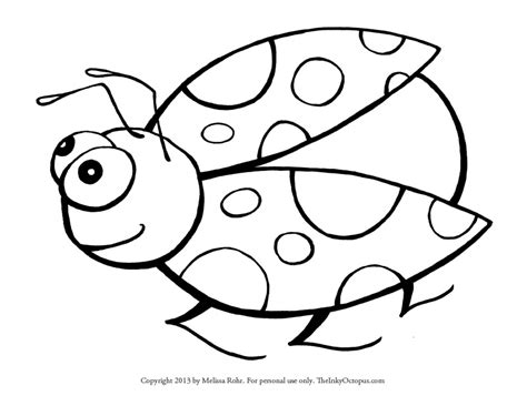 printable ladybug coloring page  inky octopus