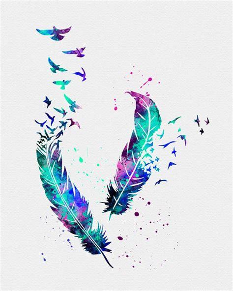 birds feathers watercolor art arts tatouage plume