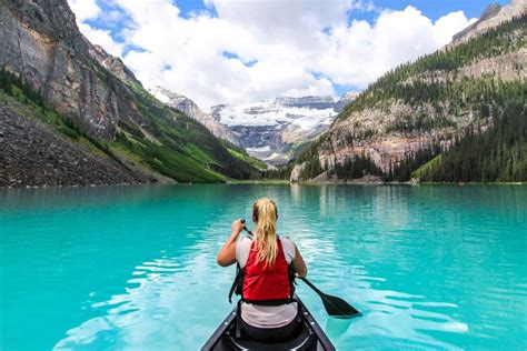 Lake Louise Boat Rental by Canoeing Kayaking In Banff Ab Banff Lake Louise Tourism
