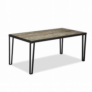 Table Cuisine Rectangulaire : table cuisine grise noir noire modern bois rustique blanc laque peinture decoration deco haute ~ Teatrodelosmanantiales.com Idées de Décoration