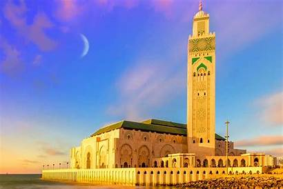 Mosque Morocco Grand Travel Tuesday Sunset Expands
