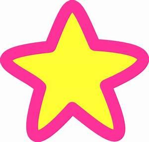 Pink Yellow Star Clip Art at Clker.com - vector clip art ...