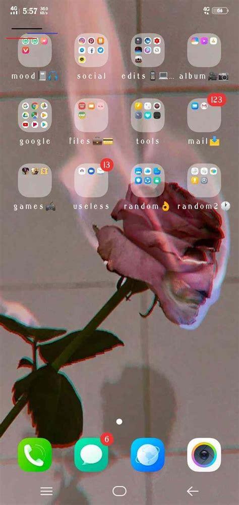 aesthetic phone organization android phone organization