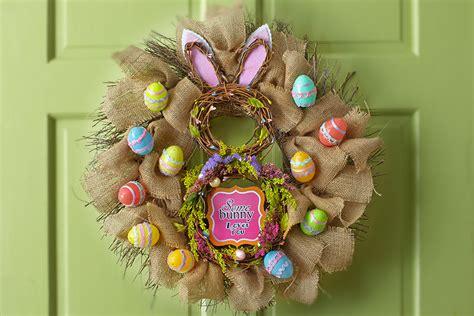 burlap bunny wreath julies lifestyle blog