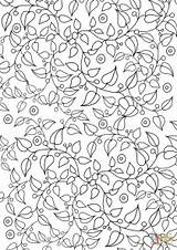 Coloring Pattern Floral Printable Animorphia Owls Mushroom Frog Hard Creative Supercoloring Categories sketch template