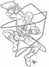 Daredevil Coloring Kaufee Marvel Comics Popular Deviantart Coloringhome sketch template