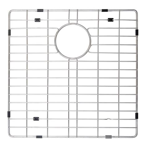 Stainless Steel Sink Grids Canada by Kraus 16 In X 19 In Bottom Sink Grid In Stainless Steel