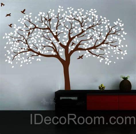 Stunning Living Room Wall Stickers by Stunning Large Poplar Birds Nursery Tree Living Room