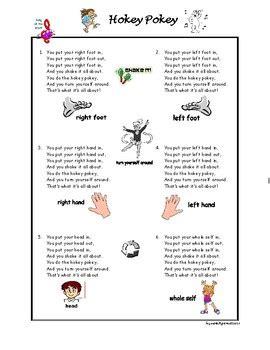hokey pokey song nursery rhyme  kids  agamat tpt