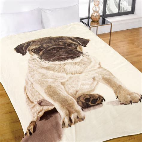 pug mink fleece blanket throw tonys textiles