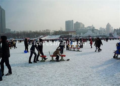 ice activities at songhua river ice and snow happy valley