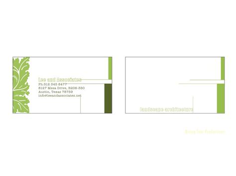 bold modern landscape business card design   company
