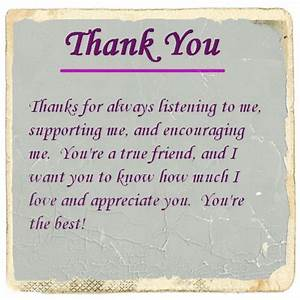 Thank You For Your Friendship Letter and Quotes | Cute ...