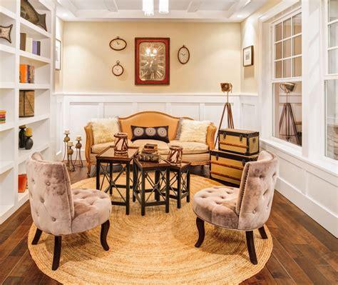 skulpturen für wohnzimmer runder geflochtener teppich dekor f 252 r land stil wohnzimmer