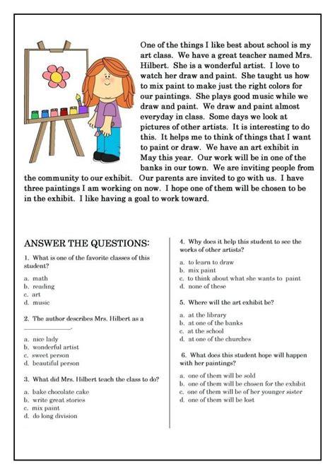 grade reading worksheets  grade reading