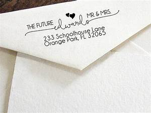 custom return address stamp modern calligraphy stamp With custom wedding invite stamps